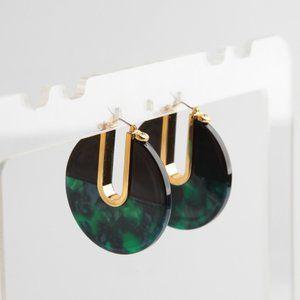 Henri Bendel Color Resin Round Stud Earrings